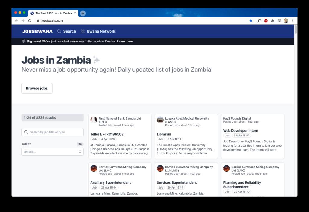 jobsbwana Zambia